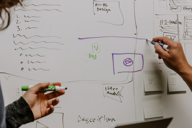 Diagram - Digital Strategy on Whiteboard